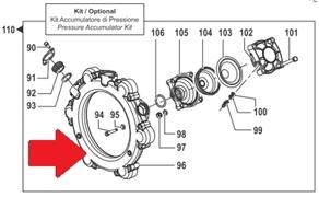 Коллектор насоса BP300 - 2