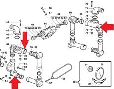 Всасывающий корпус насоса BP151 - BP71 (1х3)