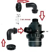 Фильтр всасывающий до 800 л/мин, 32 меш: вход d=60 mm.(90 гр.) - выход d=60 mm.(90 гр.) насоса BP300