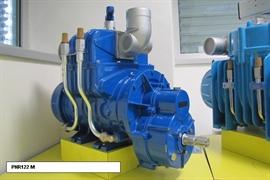 Насос вакуумный JUROP PNR 72D, 1350 об/мин, левое вращение, ручной клапан