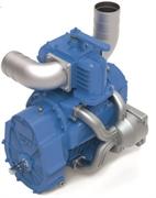 Насос вакуумный JUROP DL 220, 1000 об/мин, левое  вращение, пневмоклапан, шлицевой вал