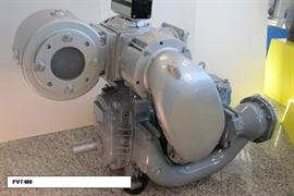 Насос вакуумный JUROP PVT400, левое вращение, гладкий вал под шпонку