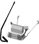 Навесная рама с рычагом управления для газонокосилок-тракторов