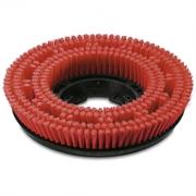Щетка дисковая, красная, средней жесткости 385 mm
